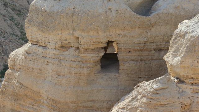 Qumran cave closeup