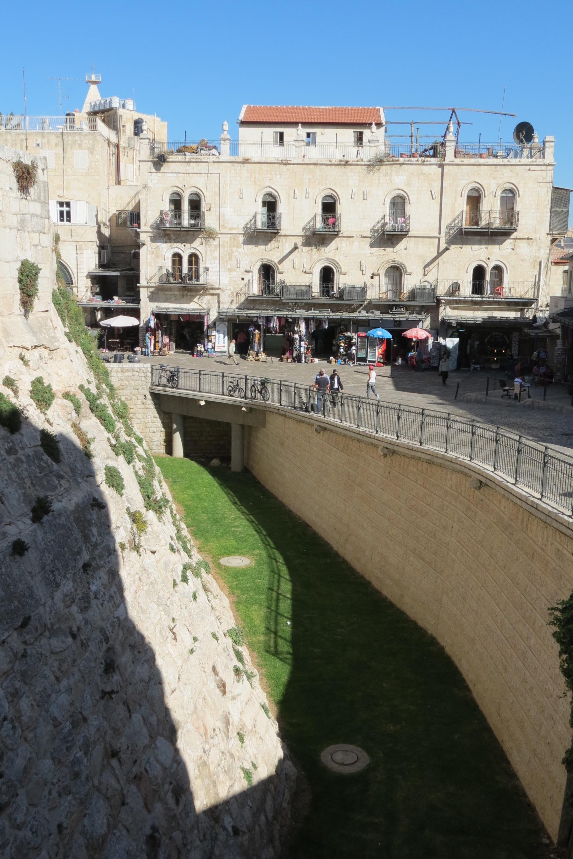David's Citadel - moat