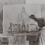 Barluzzi-drawing-Annunciation - https://israel-tourguide.info/tag/antonio-barluzzi/