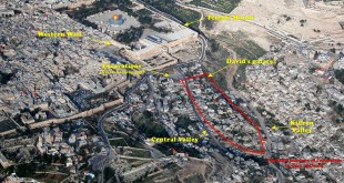 Aerial view of City of David