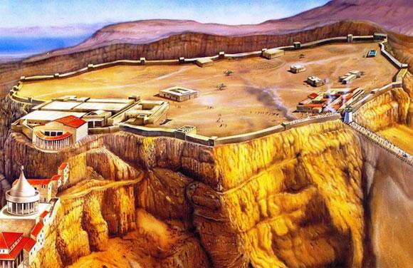 Masada fortress reconstruction