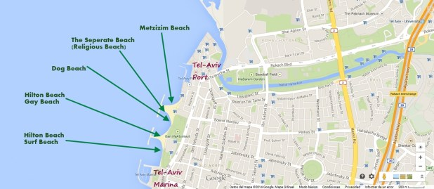 Tel Aviv Beach Map - North