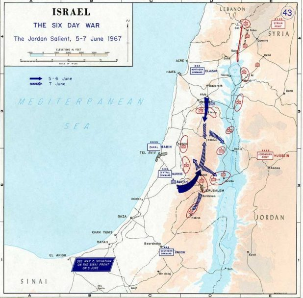 1967 Six Day War - The Jordan Salient
