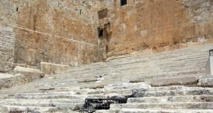 Remnants of the 1st century Stairs of Ascent, discovered by archaeologist Benjamin Mazar, to the entrance of the Temple Courtyard. Pilgrims coming to make sacrifices at the Temple would have entered and exited by this stairway.