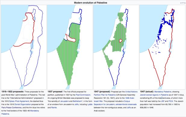 Modern evolution of Palestine Credit: Oncenawhile, Dank Chicken