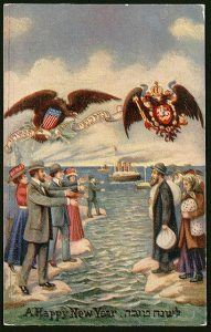 Happy New Year card United States, 1900