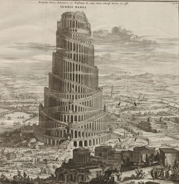 Turris Babel from Athanasius Kircher