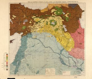 """""""Maunsell's map"""", the British government's pre-World War I ethnographical map of the area covered by the agreement."""