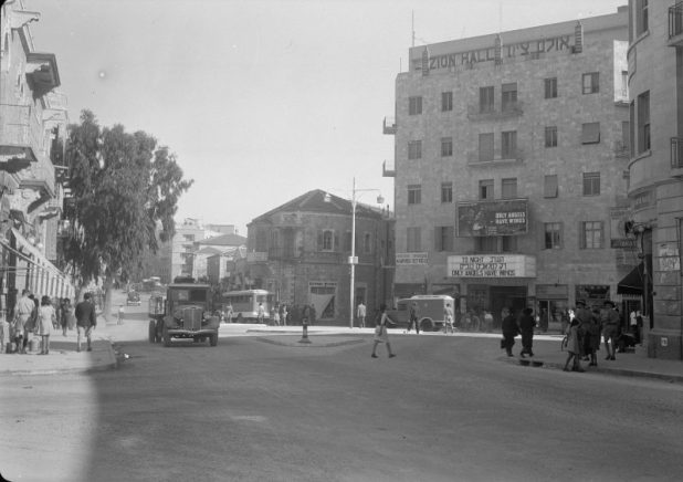 Zion Cinema, also called Zion Hall (right), early 1940s. Photo:Matson Photo Service,