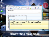 Handwriting recognition screencast