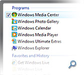 Windows Vista Start menu search