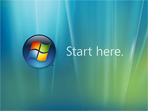 Windows Vista orb - start here