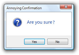 """Are you sure"" dialog"