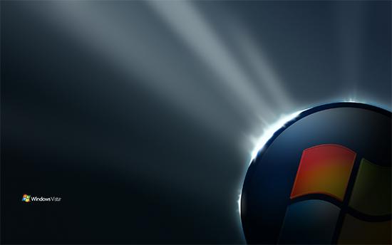 """Windows Vista """"Start"""" orb wallpaper"""