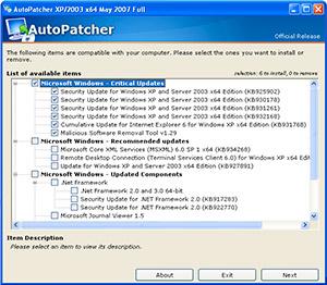 AutoPatcher screenshot