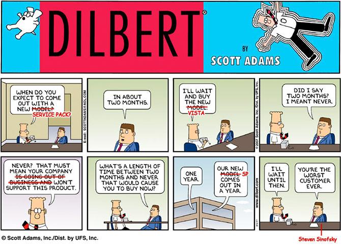 Dilbert - Windows Vista Service Pack