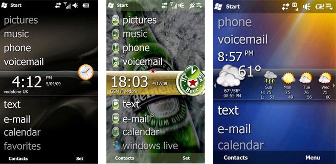 Windows Mobile 6.5 customizations