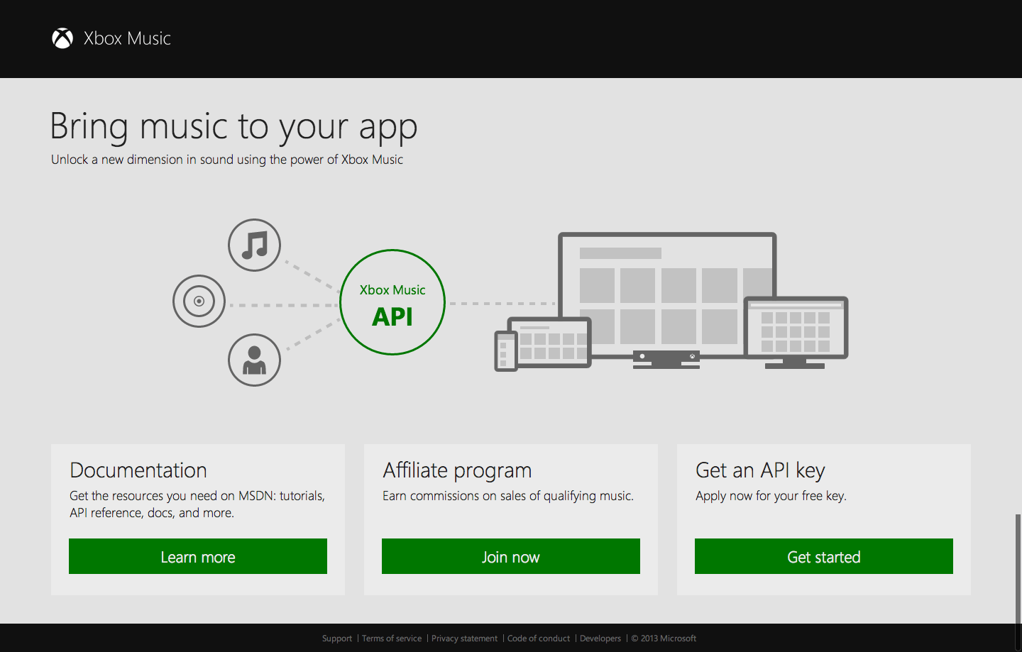 Xbox Music for developers