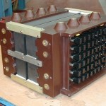 Radar transformer rectifier force air cooled 23kW, 32-50kV dc output 7.5kHz