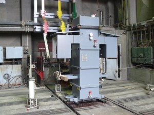 Current limiting reactor being short circuit tested