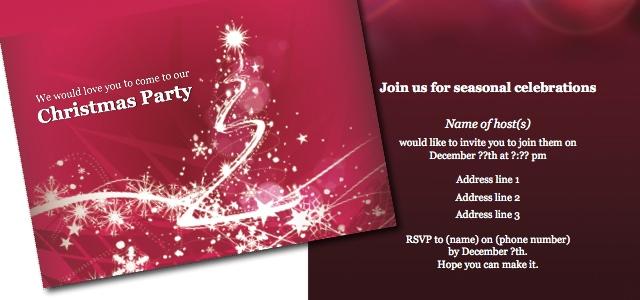 Invitation - Christmas party \u2022 iStudio Publisher \u2022 Page Layout - publisher templates christmas
