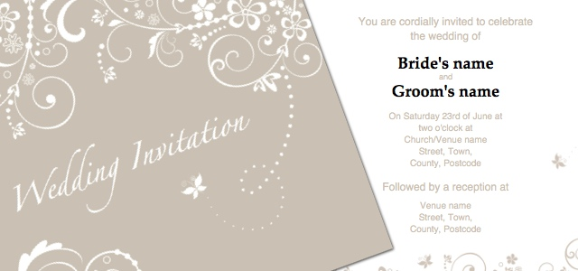 wedding invitation templates free publisher - 28 images - free