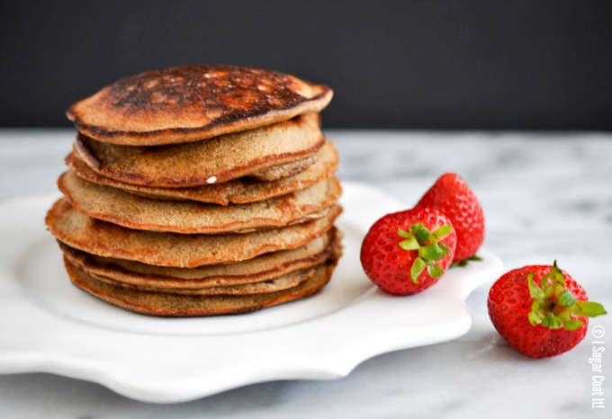 Banana Flour Pancakes + Berry Coconut Yogurt