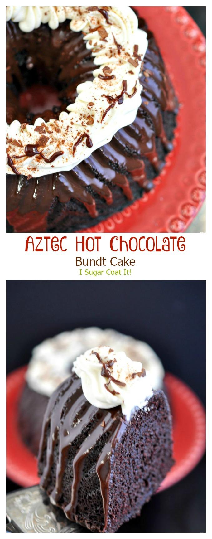 Aztec Hot Chocolate Bundt Cake