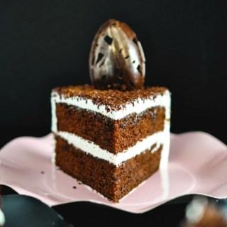 Salted Caramel Dark Chocolate Cake |isugarcoatit.com