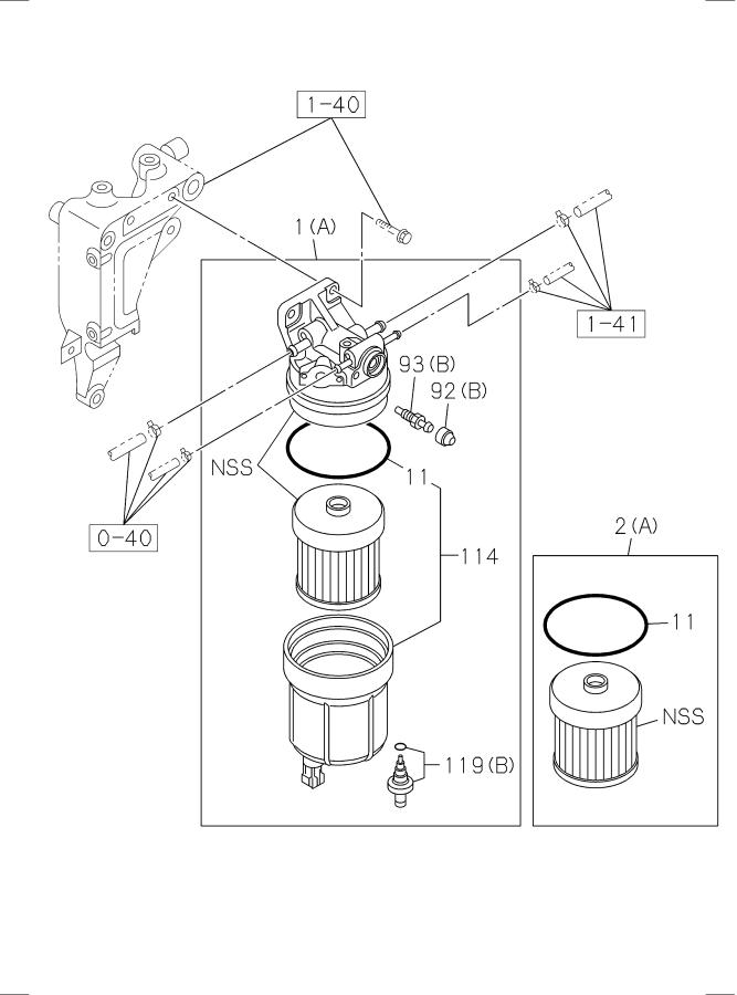 isuzu npr diesel fuel filter