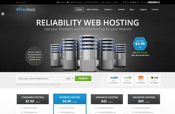 25 Best Hosting WordPress Themes With WHMCS