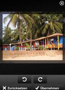 Mit der neuen Bearbeitungsfunktion der clixxie-fotobuch-App 1.20 könnt ihr eure Bilder drehen und skalieren