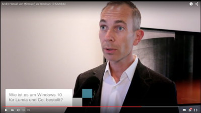 Andre Hansel von Microsoft zu WIndows 10 & Mobile