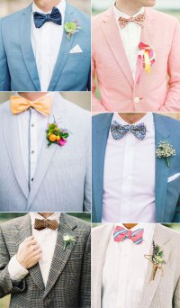 Wedding bow ties ideas for groom and groomsmen