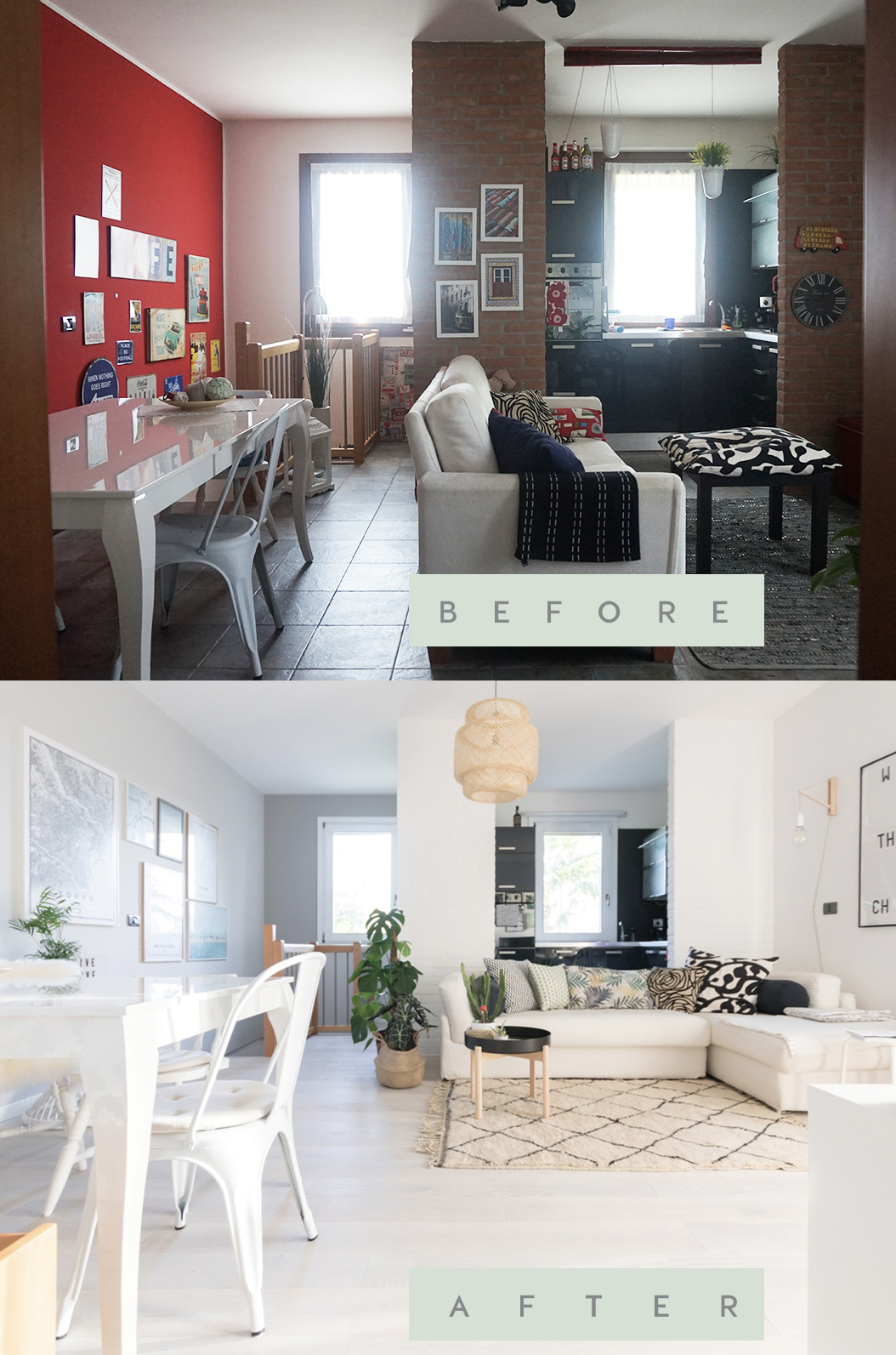 My Living Room Remodel Before and After, a Scandinavian