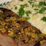 Rosmarino e' Aglio Bistecca con Risotto Quattro Formaggi (Rosemary & Garlic Steak with Four Cheese Risotto)