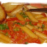 Pasta With Tomatoes, Basil & Three Cheeses (Tre Formaggi)