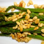 Brown Butter Asparagus with Pignoli