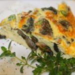 Frittata with Mushrooms, Thyme, and Parmigiano Cheese