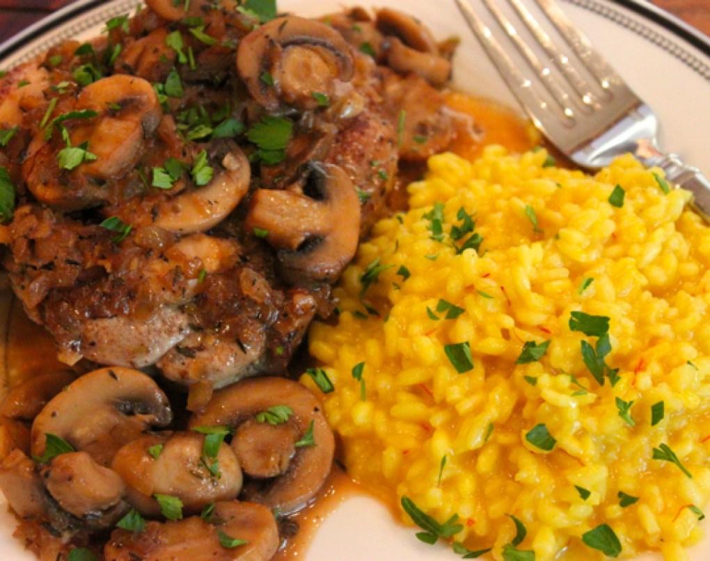 pork marsala risotto milanese