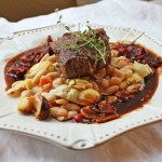 "Lamb Chops with White Beans and Wine Sauce ~ ~ ""Cooking on the Ranch"""