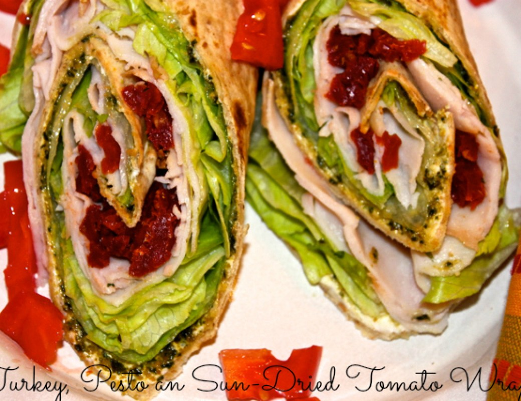 turkey pesto sun-dried tomato wraps