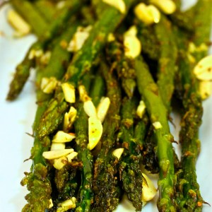 asparagus garlic almonds