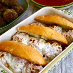Cheesy Italian Meatball Sandwich #SundaySupper
