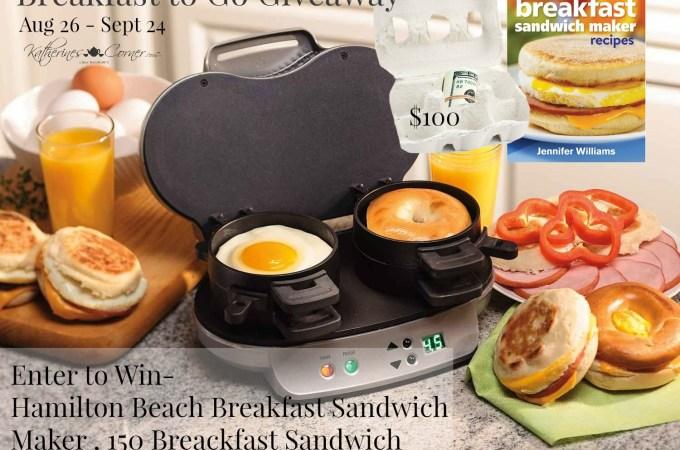 FANTASTIC GIVEAWAY breakfast to-go maker, cookbook and $100 cash