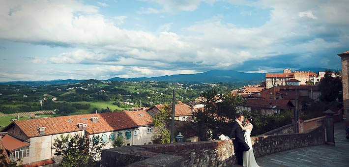 Romanticism, Italian Country chic style and wine for a Wedding in Langhe