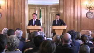 L'incontro Renzi-Cameron a Londra