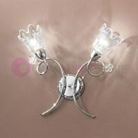 BETTA Applique Wall Lamp 2 Light chrome modern