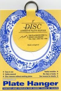 """Disc Adhesive Plate Hanger - 2"""" - Italian Pottery Outlet"""