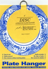 "Disc Adhesive Plate Hanger - 4"" - Italian Pottery Outlet"